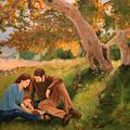 Family Portrait Under A Tree by Alan Schwartz