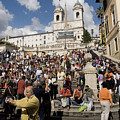 Famoust Spanish Steps In Rome by Charles  Ridgway