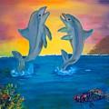 Fantasy Dolphins by Mikki Alhart