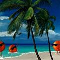 Fantasy-oranges Playing Football by Daniel Pierce