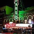 Fargo Nd Theatre At Night Picture by Paul Velgos