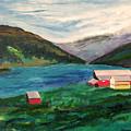 Farm At The Fjord by Richard Beauregard