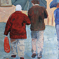 Father And Son Promenade by Libby  Cagle