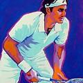 Federer by Gail Zavala