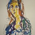 Female Face Study Bb by Edward Wolverton