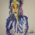 Female Face Study I by Edward Wolverton