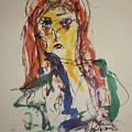 Female Face Study V by Edward Wolverton