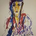 Female Face Study W by Edward Wolverton