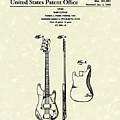 Fender Bass Guitar 1960 Patent Art by Prior Art Design