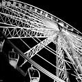 Ferris Wheel Against Black Sky by DigiArt Diaries by Vicky B Fuller