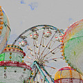 Ferris Wheel And Balloons by David Lee Thompson