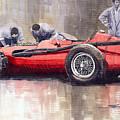 Final Check Before The Start Maserati 250 F 1957 by Yuriy Shevchuk