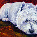 Fire Glow - West Highland White Terrier by Lyn Cook