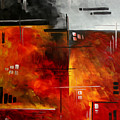 Fire Hazard Original Madart Painting by Megan Duncanson