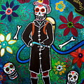 Firefighter Day Of The Dead by Pristine Cartera Turkus