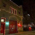 Firehouse In Xmas Lights by Sven Brogren