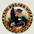 Fireman - Fire And Emergency Services Seal by Paul Ward