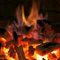 Fireplace Flames by Francisco Leitao