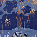 Fireworks In Venice by Georges Barbier