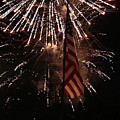 Fireworks With Flag by Alan Look