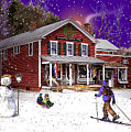 First Snow At The South Woodstock Country Store by Nancy Griswold