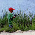 Fishing At Hickory Mound by Marilyn Holkham