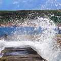 Fishing Beyond The Surf by Terri Waters