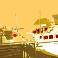 Fishing Boat At The Dock by Ian  MacDonald