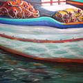 Fishing Boatgreek  by Yvonne Ayoub
