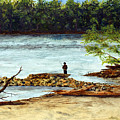 Fishing On The Missouri River by Tina Storey