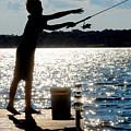 Fishing Silhouette by Steve Somerville