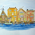 Fishing Village 2 by Nancy Nuce