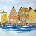 Fishing Village 3 by Nancy Nuce