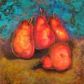 Flaming Pears by Rae Chichilnitsky