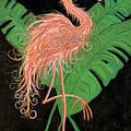 Flamingo Art Deco  by Helen Gerro