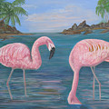 Flamingo Cove by Mikki Alhart