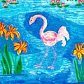 Flamingo by Sushila Burgess