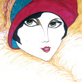 Flapper Girl 1 by Rae Chichilnitsky