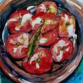 Flat Peaches by Doranne Alden
