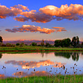 Floating Clouds And Reflections by Scott Mahon