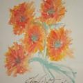 Floral Study In Pastels U by Edward Wolverton