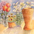 Flowers And Terra Cotta by Debbie Lewis
