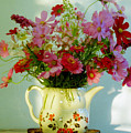 Flowers In A Teapot by Patricia Greer