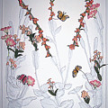 Flowers With Butterflies by Vallee Johnson