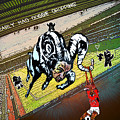 Football Derby Rams Against Nottingham Forest Red Dogs by Miki De Goodaboom