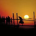 Footbridge In Bangladesh by Carl Purcell