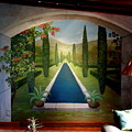 Formal Pond Mural-costa Rica by Scott K Wimer