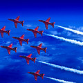 Formation Flying Britains Red Arrows by Chris Lord