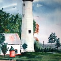 Fort Gratiot Lighthouse Michigan by Larry Hamilton