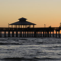 Fort Myers Beach Pier Sunset by Keith Lovejoy